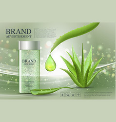 Advertising poster for cosmetic product for vector
