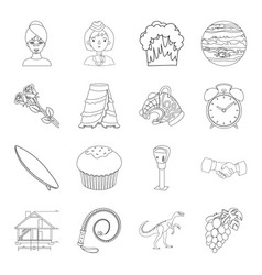 beauty profession sport and other web icon in vector image
