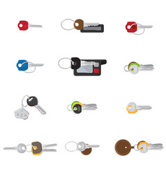 Big keys set twelve different keys collection vector