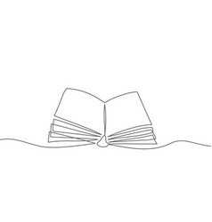 book one line drawing book in line style on vector image