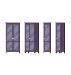 bookcase in black vector image