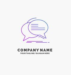 bubble chat communication speech talk purple vector image