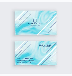 Business card in blue marble texture vector