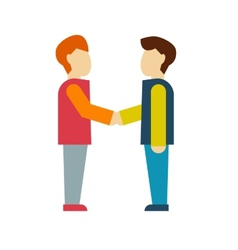 business shaking hand vector image