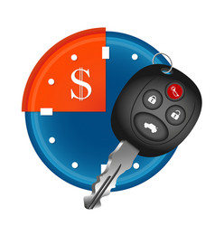 car rental symbol vector image