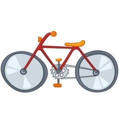 cartoon bicycle vector image