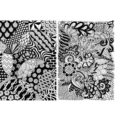 Circles and floral vector