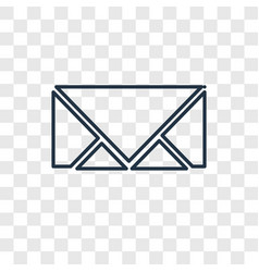 closed envelope concept linear icon isolated on vector image