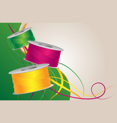 Colorful threads vector