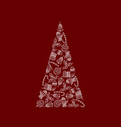 decorative christmas tree from christmas symbol vector image
