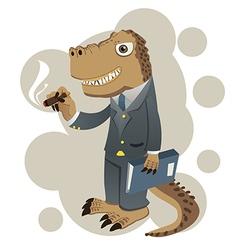 dino businessman vector image