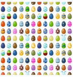 easter eggs painted with spring seamless pattern vector image