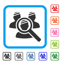 Explore patients framed icon vector