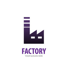 factory logo for business company simple factory vector image