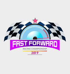 fast forward racing vector image