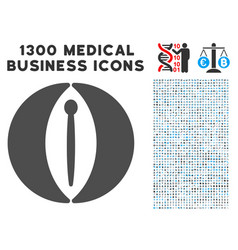 Female genitals icon with 1300 medical business vector
