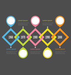 Five step timeline infographic placemerk round vector