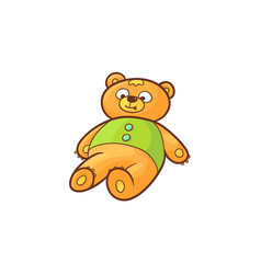 flat cartoon bear toy vector image