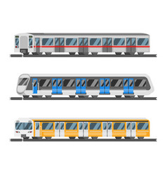 flat style set of metro trains vector image