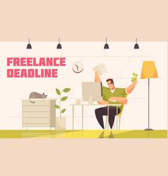 Freelance deadline vector