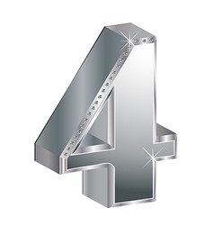 Glamorous diamond number vector