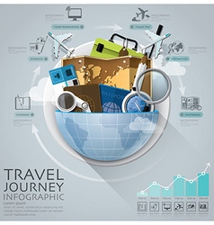 Global Travel And Journey Infographic With Round vector