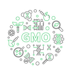 gmo round simple concept outline vector image