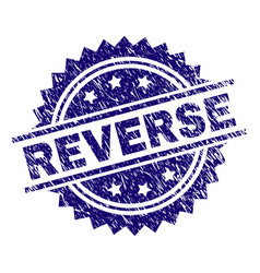 Grunge textured reverse stamp seal vector