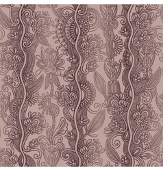 hand draw ornate seamless flower paisley design vector image