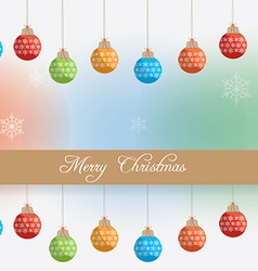 Happy christmas vector image