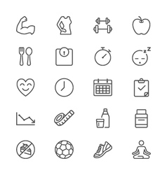 Healthcare thin icons vector