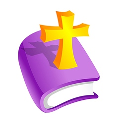 Icon bible and cross vector