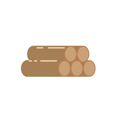 logs of trees icon vector image