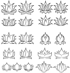 lotus set 2 vector image