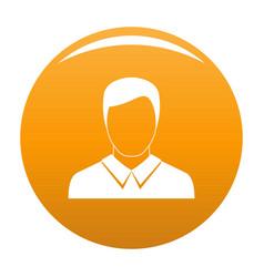 Man avatar icon orange vector