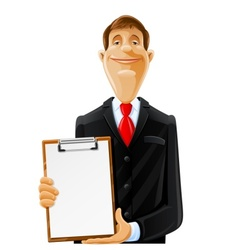 man with clipboard vector image