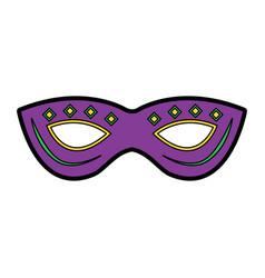 mask mardi gras carnival icon image vector image