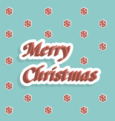 merry christmas holiday card vector image