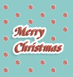 merry christmas holiday card vector image