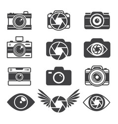monochrome pictures symbols for photographers vector image