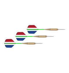 ntherlands red white and blue dart set vector image