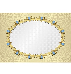 Ornate background with decorative frame vector