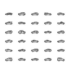 Pack different car icons vector