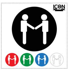 People handshake icon vector