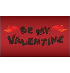 Postcard for Valentines Day with devils letters vector image