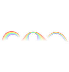 rainbow icons isolated on white background vector image