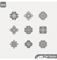 set of Line thai art design vector image vector image