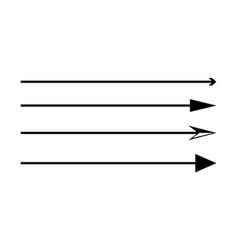 Set thin long arrows pointing to right vector
