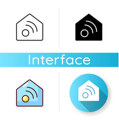 Smart home app icon vector