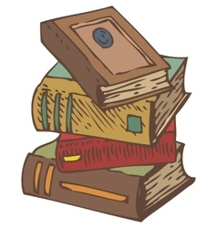 Stack of Old Books vector